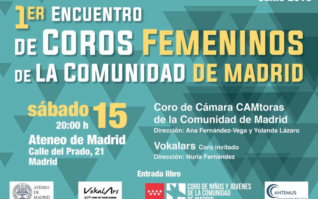 Primer Encuentro de Coros Femeninos de la Comunidad de Madrid