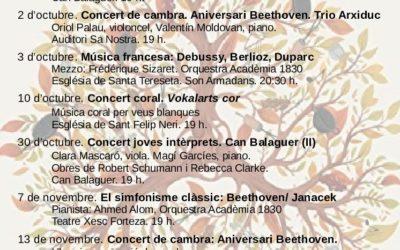 Festival clàssica, organizado por Acadèmia 1830 (Mallorca)